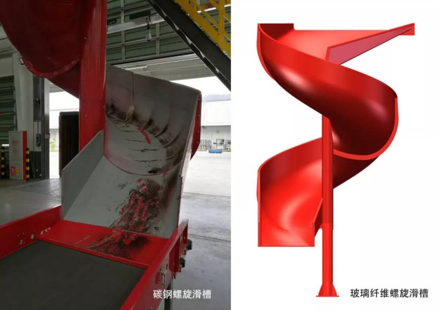 环亚电游玻璃鋼滑槽與碳鋼滑槽對比